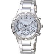 GUESS手錶 GWW0141L1 尊爵大錶徑魅力晶鑽時尚男錶-銀白