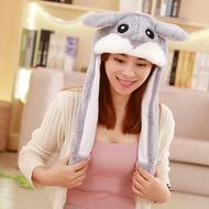 兔子帽 會動耳朵的帽子小鹿倉鼠獨角獸網紅毛絨玩具可愛氣囊帽兒童禮物【韓國時尚週】