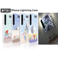 BTS BT21 Official iPhone Pastel City Lightning Case - MAX, XR, XS/X, 7/8,7+/8+