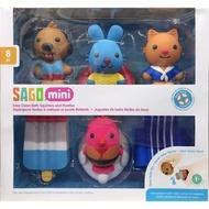 SAGO  阿奇幼幼園 mini 洗澡玩具 8PC 白樹森林
