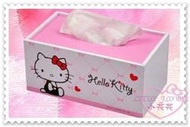 ♥小花花日本精品♥ Hello Kitty 雙面圖 面紙盒 面紙桌上收納盒 木製面紙盒 33038100