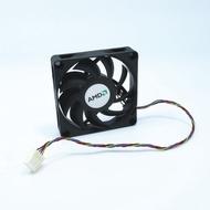 #散热#✲12v 7厘米7015 8CM 4線散熱風扇CPU AMD智能溫控靜音電腦主板風扇