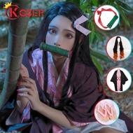 COSER KING อะนิเมะคอสเพลย์ปีศาจ Demon Slayer kimetsu NO yaiba คอสเพลย์ Kamado Nezuko shinobu kochou kanao เครื่องแต่งกายกิโมโนสตรีเครื่องแต่งกาย ชุดคอสเพลย์ การ์ตูน วิกผมรองเท้า ดาบพิฆาตอสูร เนสึโกะ