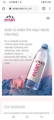 [Local Ready Stocks]EVIAN WATER(evian natural mineral water) 12*500ml