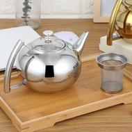加厚304不銹鋼茶壺飯店泡茶壺帶濾網酒店餐廳用茶壺電磁爐大茶壺