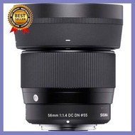 Sigma Lens 56MM F/1.4 DC DN (C) (ประกัน EC-Mall) เลือก 1 ชิ้น อุปกรณ์ถ่ายภาพ กล้อง Battery ถ่าน Filters สายคล้องกล้อง Flash แบตเตอรี่ ซูม แฟลช ขาตั้ง ปรับแสง เก็บข้อมูล Memory card เลนส์ ฟิลเตอร์ Filters Flash กระเป๋า ฟิล์ม เดินทาง