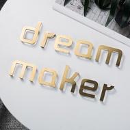 亞克力水晶字定做發光字招牌鈦金不銹鋼字看板字logo製作立體字#