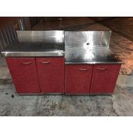 大慶二手家具 不鏽鋼兩件式流理台/洗手台/瓦斯爐/工作台