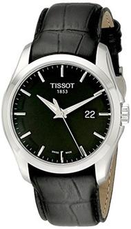 Tissot Mens T0354101605100 Couturier Black Dial Strap Watch