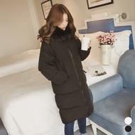 【MsMore】哥本哈根寒冬悠閒暖絨環保皮草科技羽絨長版外套j#103214M黑