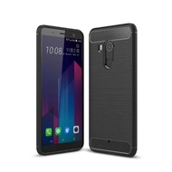 【YANG YI 揚邑】HTC U11+拉絲紋碳纖維軟殼散熱防震抗摔手機殼