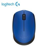 羅技 M171 無線滑鼠(藍)/無線/1000dpi/2.4G迷你接收器/左右手適用
