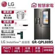 LG樂金GR-QPL88BS敲敲看門中門冰箱 星夜黑/ 761公升送雙人牌雙耳湯鍋20CM、日式廚刀、回函送按摩槍