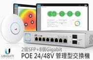 台灣公司貨 UBNT UniFi Switch US-8-150w 802.3af/at 管理型POE交換器