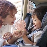 【SPICE】日本 風扇LED燈化妝鏡(可掛脖)- 粉橘杏子