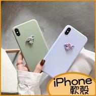 卡通小飛象iPhone11 Pro max 蘋果iPhoneXR手機殼 i8 Plus i7 純色殼 i6s i6 plus ix XS Max軟殼