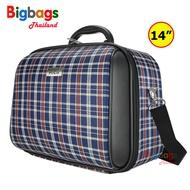 BigbagsThailand กระเป๋าเดินทาง กระเป๋าสะพายข้าง พร้อมหูถือ สอดคันชักกระเป๋าเดินทาง 14 นิ้ว Travel Folding Bag รุ่น MZ489