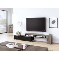肯特古橡色4.6尺伸縮長櫃 電視櫃 寬140x深30x高41公分 免組裝 A316-02(B882)