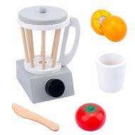 เด็กใหม่ไม้ทำเป็นชุดของเล่นจำลองเครื่องปิ้งขนมปังเครื่องทำขนมปังกาแฟเครื่องปั่นเบเกอรี่ชุดเกม Mixer ครัวบทบาทของเล่น