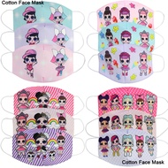 LOL Surprise Doll 3D Face Mask Adult Kids Baby Girls Cartoon Cotton Protective Masks Anti Dust Face Mask
