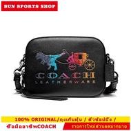 กระเป๋าสะพายข้าง COACH 69417 Coach Leather Camera Bag With Rexy And Carriage (GMBK) Color: GM/BLACK