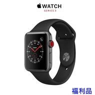Apple Watch S3 GPS ,42mm 太空灰色鋁金屬錶殼搭 黑色運動型錶帶 福利品