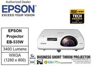Epson EB 535W Short Throw Projector 535W EB535W EB535 w EB 535 w  eb-535w (Free $80 NTUC voucher till 30/08/2020 , Online REDEMPTION by 14/09/2020)