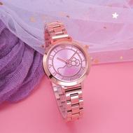 Hello Kitty 陽光女孩的可愛時尚造型腕錶-玫瑰金-LK703LRRA