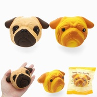 SquishyShop Dog Puppy Face Bread Squishy 11cm Slow Rising With Packaging Collection Gift Decor Toy