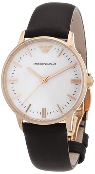 Emporio_Armani_Women Classic White Dial Leather Band Watch AR1601