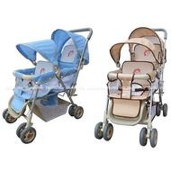 babybabe 豪華嬰兒雙人推車 台灣製 328 好娃娃