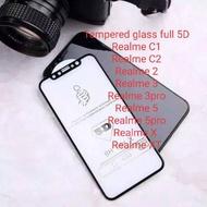 Tempered glass full 5D type seri REALME