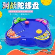 戰鬥盤陀螺 戰鬥陀螺 對戰陀螺盤套裝 桌面互動游戲 抽拉式超變戰陀螺戰鬥盤兒童玩具『xy5237』