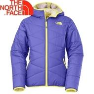 【The North Face 女童 雙面保暖外套 星空紫】CSC1/雙面連帽外套