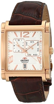 Orient Mens SETAC008W0 Gallant Analog Display Japanese Automatic Brown Watch