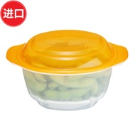 Imported from Japan Inomata Microwave Oven Steaming Box Bowl Hot Steamed Bread Steamed the Microwave Oven Box Steamed Dishes Bowl 700 Ml