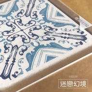 【MBM】會呼吸的珪藻土 / 迷戀幻境 / 花磚珪藻土杯墊組(一盒5入)