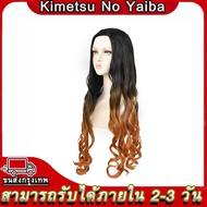 hot Demon Slayer Kimetsu no Yaiba cosplay Costume Nezuko Tanjirou Zenitsu Giyuu Shinobu Rengoku Kanawo Obanai Set Wig Clogs