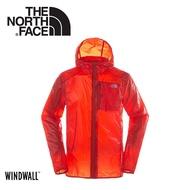 【The North Face 男 WindWall防風防潑連帽外套《橘》】3F67/機能外套/運動夾克/風衣