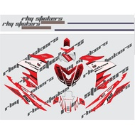Decals Sticker Motorcycle Decals for Yamaha sniper 150 red