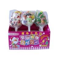 【糖趣花園】聖誕軟糖棒棒糖--每盒9支119元-- 聖誕老公公+雪人+聖誕樹--聖誕節糖果