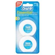 Sale [2 Pcs.] Oral-B Essentialfloss 50m Waxed Dental Floss 2pcs