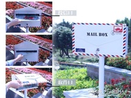 信箱郵筒 信封造型掛墻立桿式郵箱信箱信報箱郵筒店鋪裝飾JD 傾城小鋪