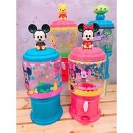 迪士尼 Disney 米奇 米妮 小熊維尼 三眼怪 角色人物造型糖果機 糖果罐 零食罐 造型罐 扭蛋機