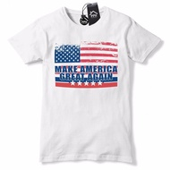 Men T Shirt Us Vintage Flag Make America Great Again Trump Baseball Cap Usa