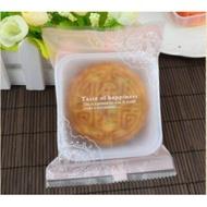 【嚴選SHOP】95入 粉色蕾絲 80g月餅包裝袋+內托 平口塑膠袋 蛋黃酥糖果餅乾 綠豆糕 鳯梨酥塑膠盒【D020】