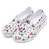 【92K1SA08RW】PONY TROPIC 水鞋 童鞋 中大童鞋 防水 洞洞鞋 塗鴉白