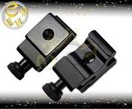 『e電匠倉』夾扣式鋁和金熱靴座 1/4螺孔 通用型冷熱靴座 腳架雲台 閃光燈 攝影燈 持續燈