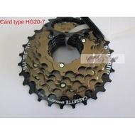 Mountain bike bicycle folding flywheel card test sprocket tower wheel HG20 cassette 7-speed 21-speed