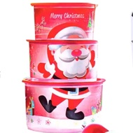 Tupperware® Santa Surprise one touch topper Set of 3